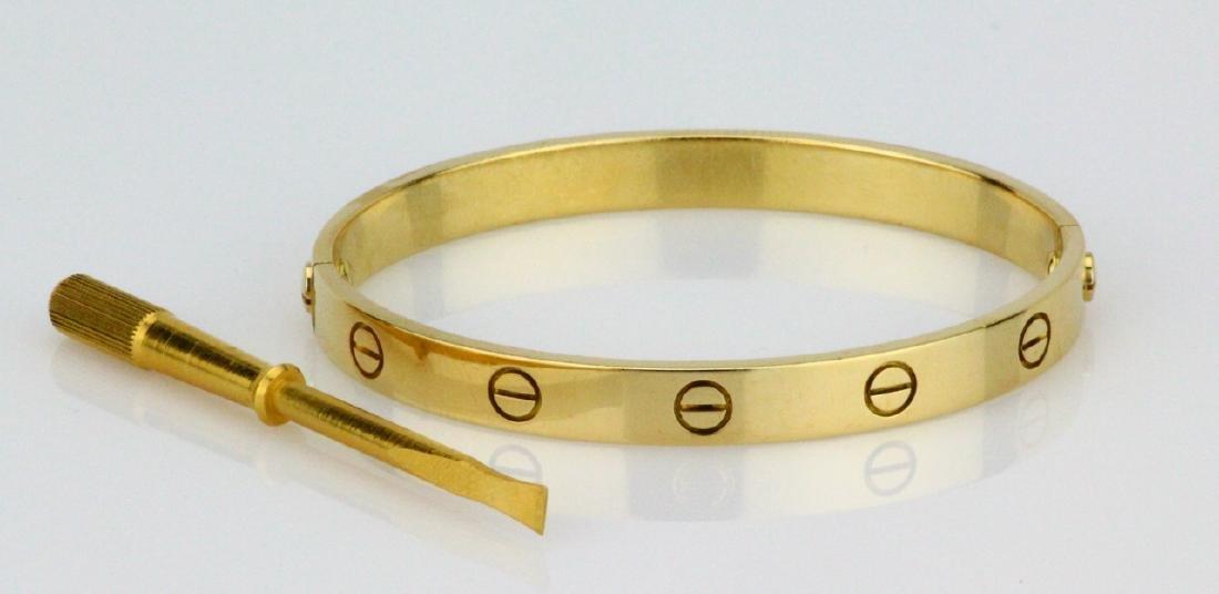 Cartier 18K Love Bracelet W/Screwdriver in Pouch - 2