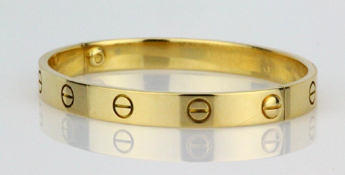 Cartier 18K Love Bracelet W/Screwdriver in Pouch - 4