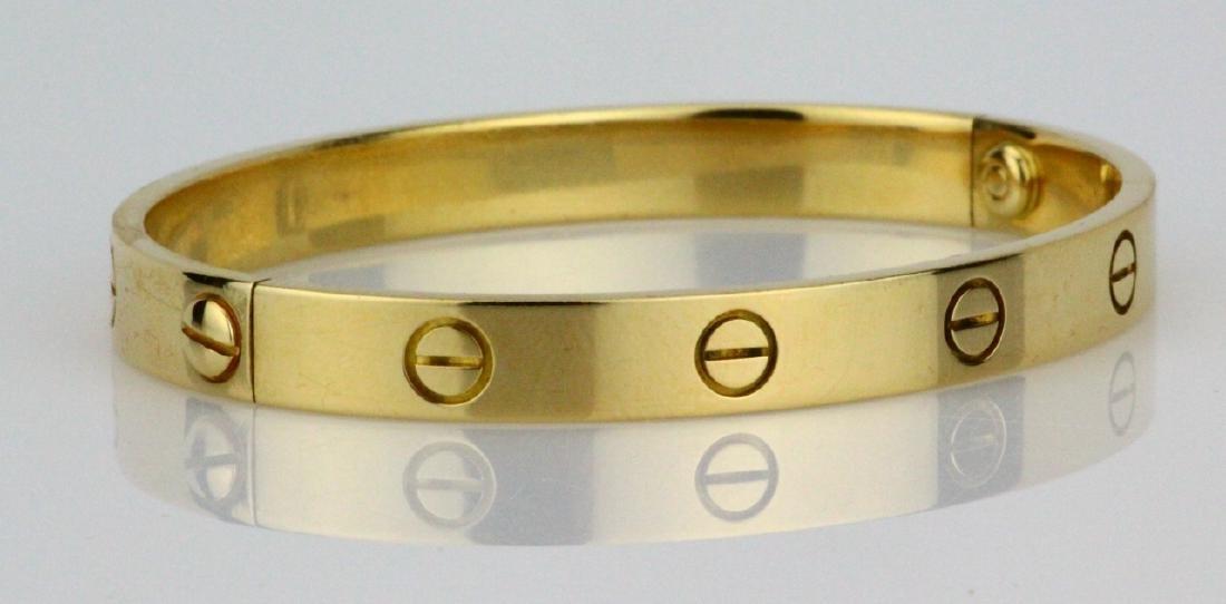 Cartier 18K Love Bracelet W/Screwdriver in Pouch - 5