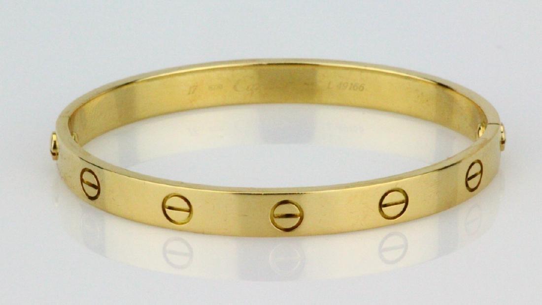 Cartier 18K Love Bracelet W/Screwdriver in Pouch - 6