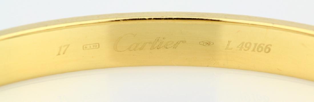 Cartier 18K Love Bracelet W/Screwdriver in Pouch - 9