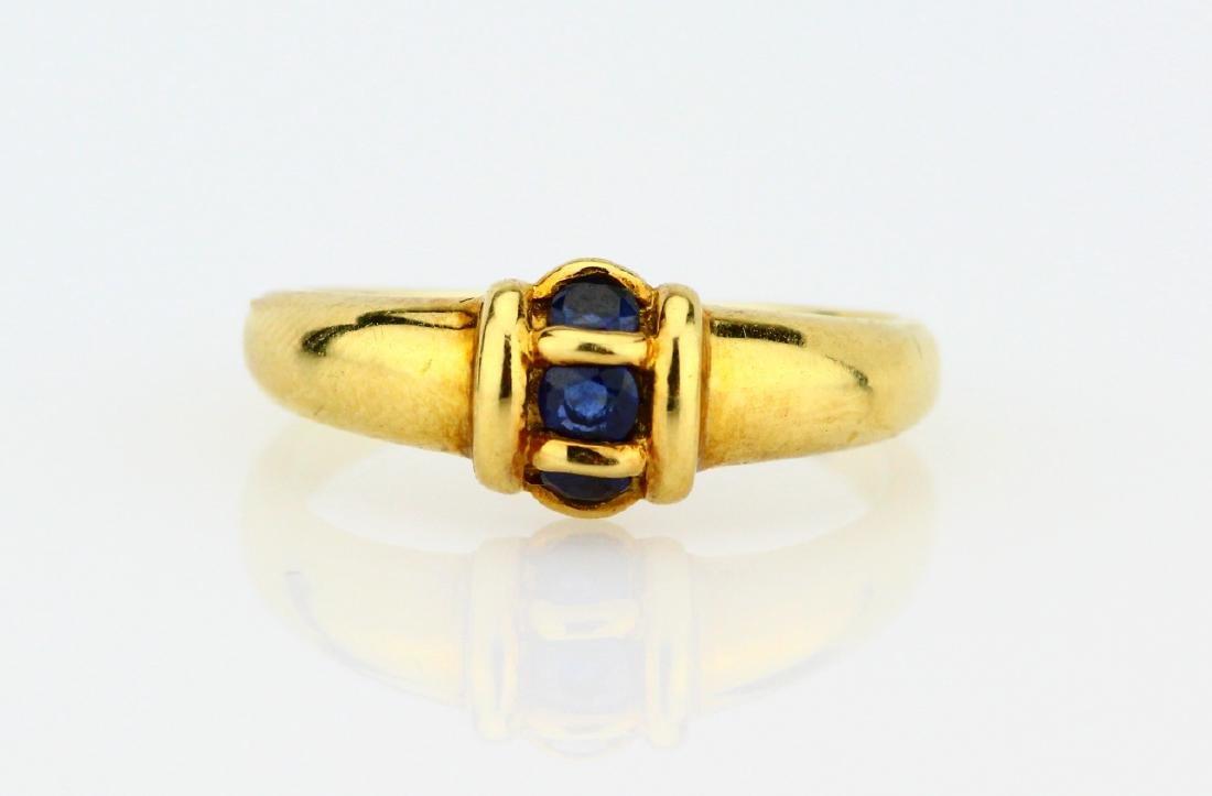 Van Cleef & Arpels 18K & Blue Sapphire Ring