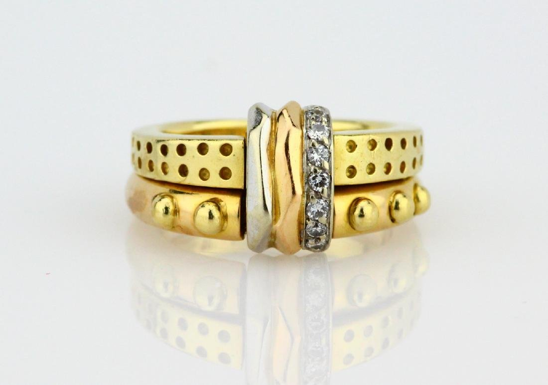 La Nouvelle Bague 18K Double Stacked Ring