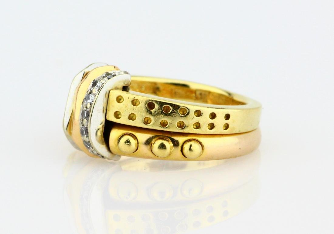 La Nouvelle Bague 18K Double Stacked Ring - 2