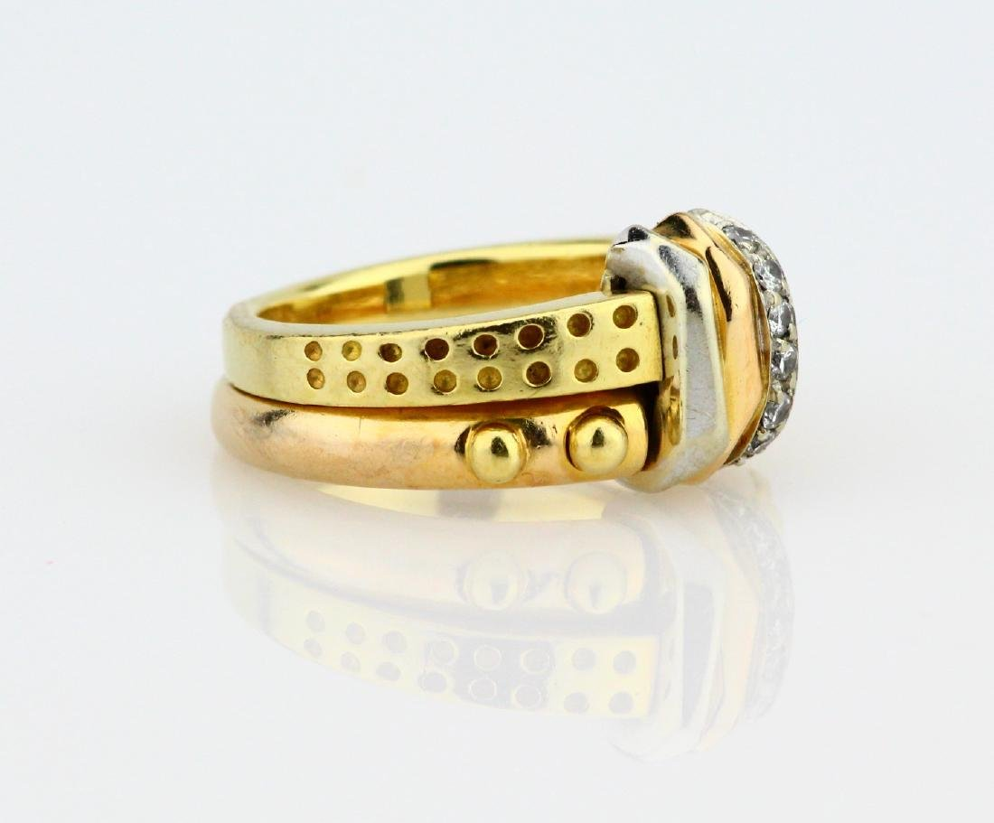 La Nouvelle Bague 18K Double Stacked Ring - 3