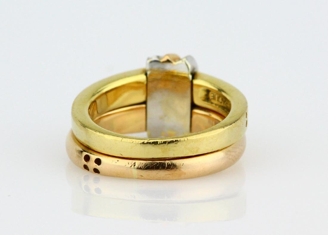 La Nouvelle Bague 18K Double Stacked Ring - 4