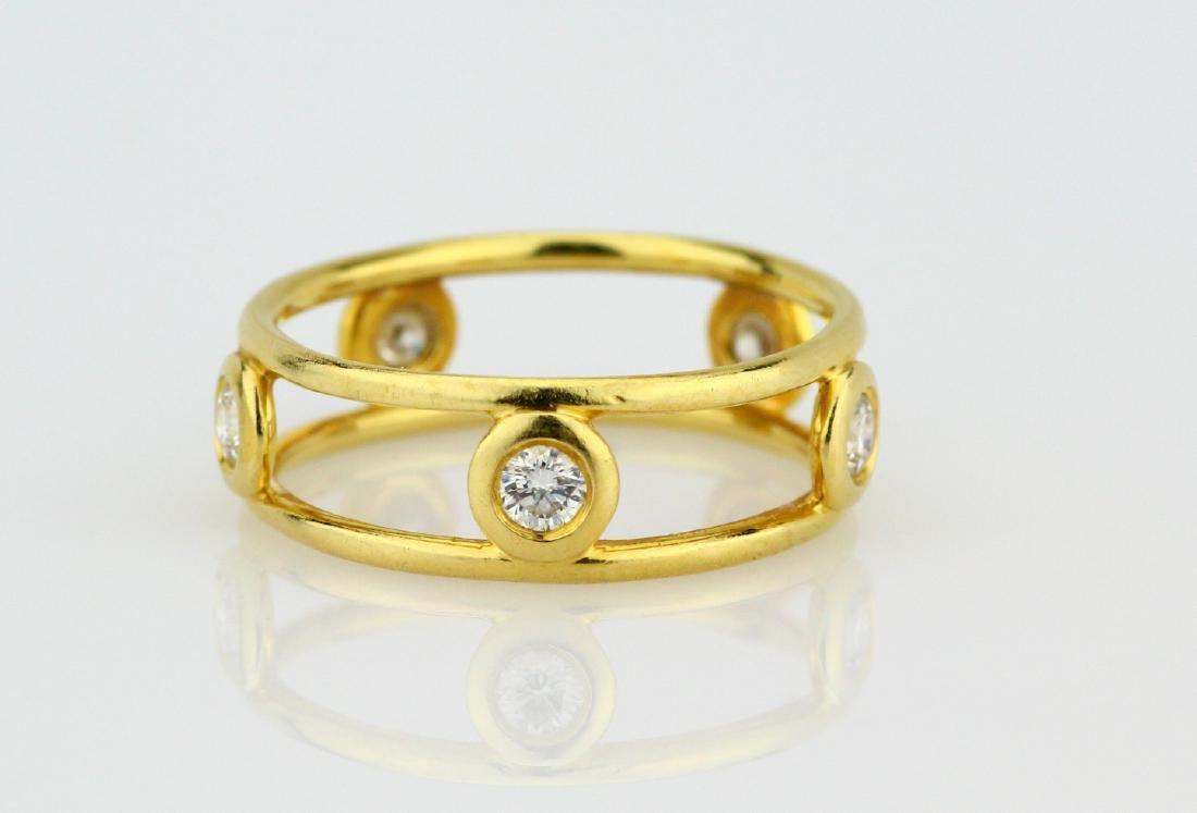 Tiffany & Co. Elsa Peretti 18K & VS Diamond Ring