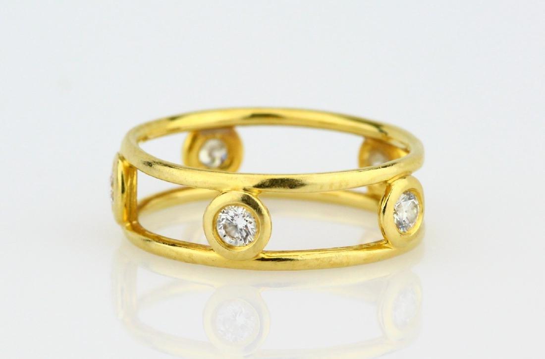 Tiffany & Co. Elsa Peretti 18K & VS Diamond Ring - 2