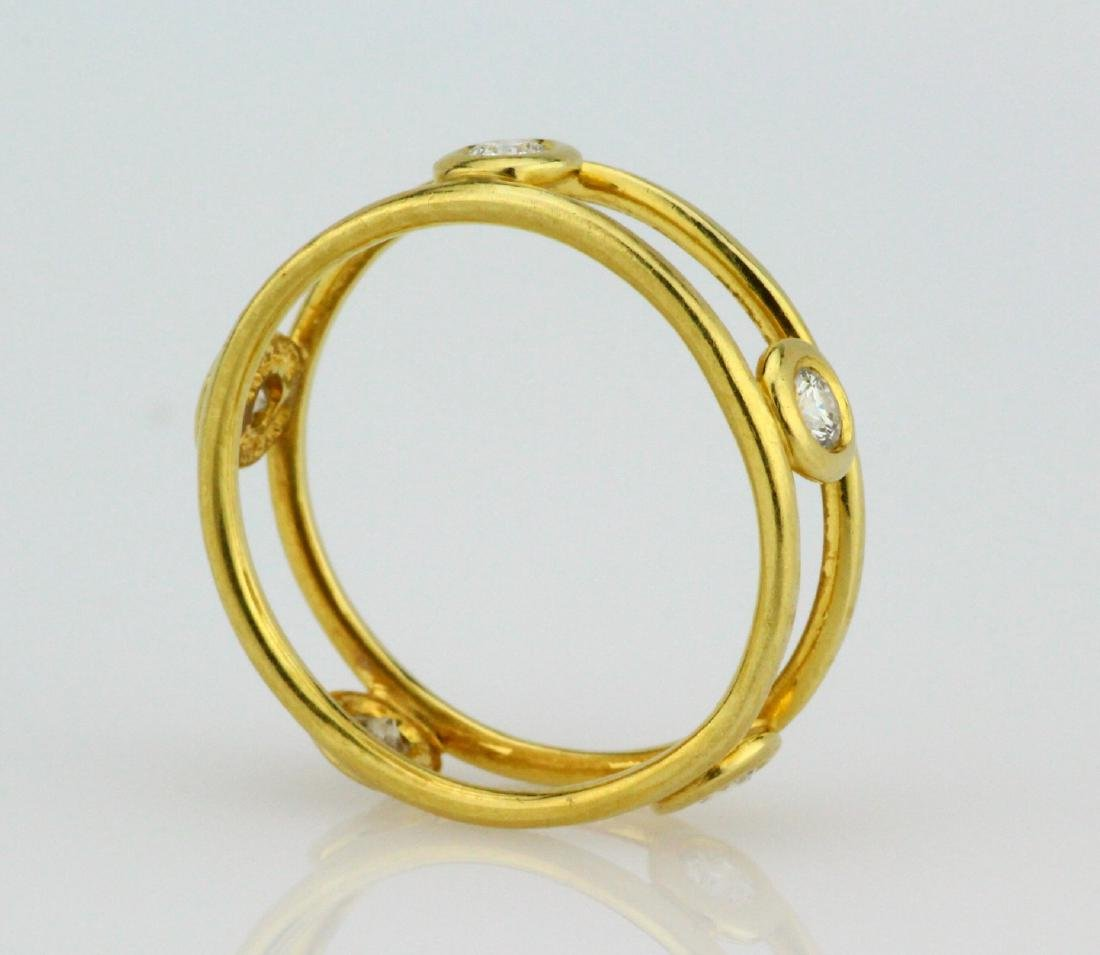 Tiffany & Co. Elsa Peretti 18K & VS Diamond Ring - 3