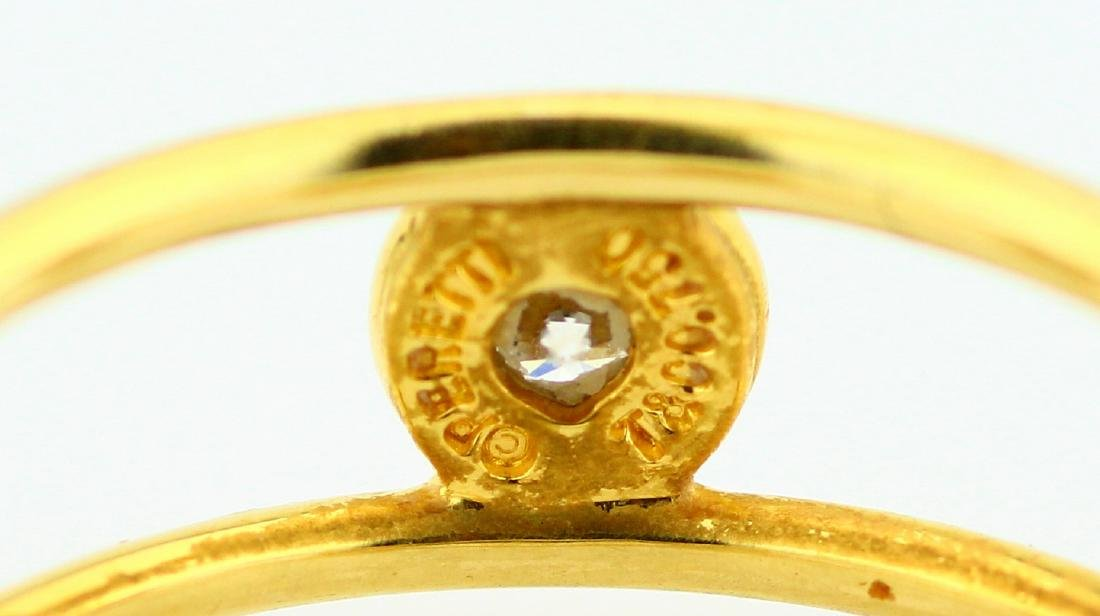 Tiffany & Co. Elsa Peretti 18K & VS Diamond Ring - 4