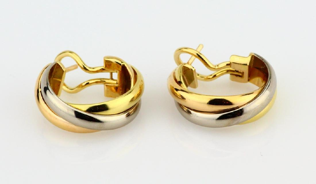 "Cartier ""Trinity de Cartier"" 18K Hoop Earrings"
