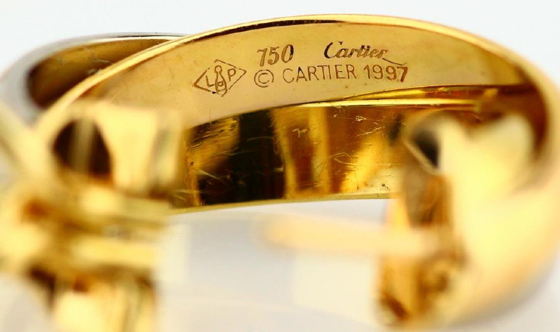 "Cartier ""Trinity de Cartier"" 18K Hoop Earrings - 5"
