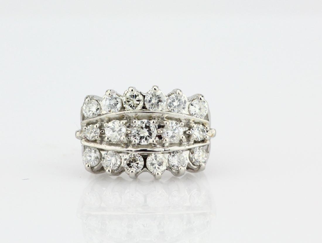 2.50ctw SI2-I1/G-H Diamond & 14K White Gold Ring
