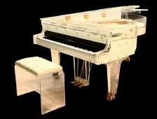 Whitney Houston Schimmel Plexiglass Custom Piano