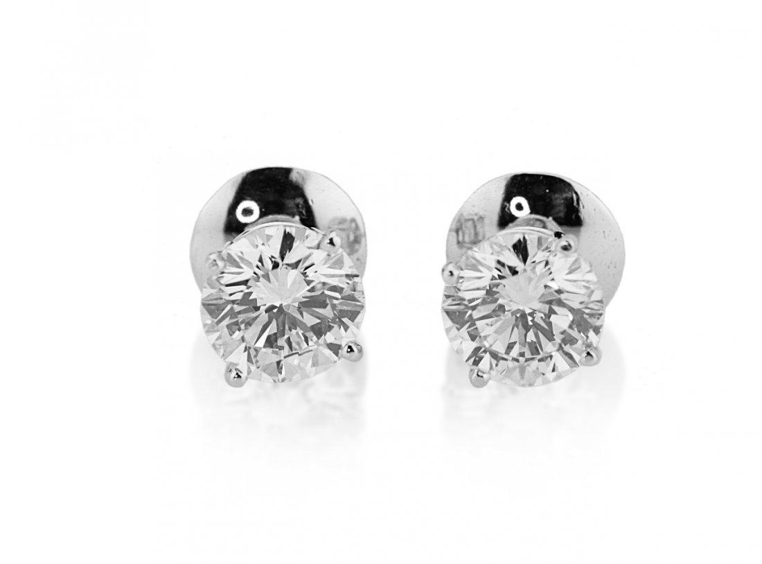 4.45ctw VS1-VS2/G-H Diamond & 14K Stud Earrings