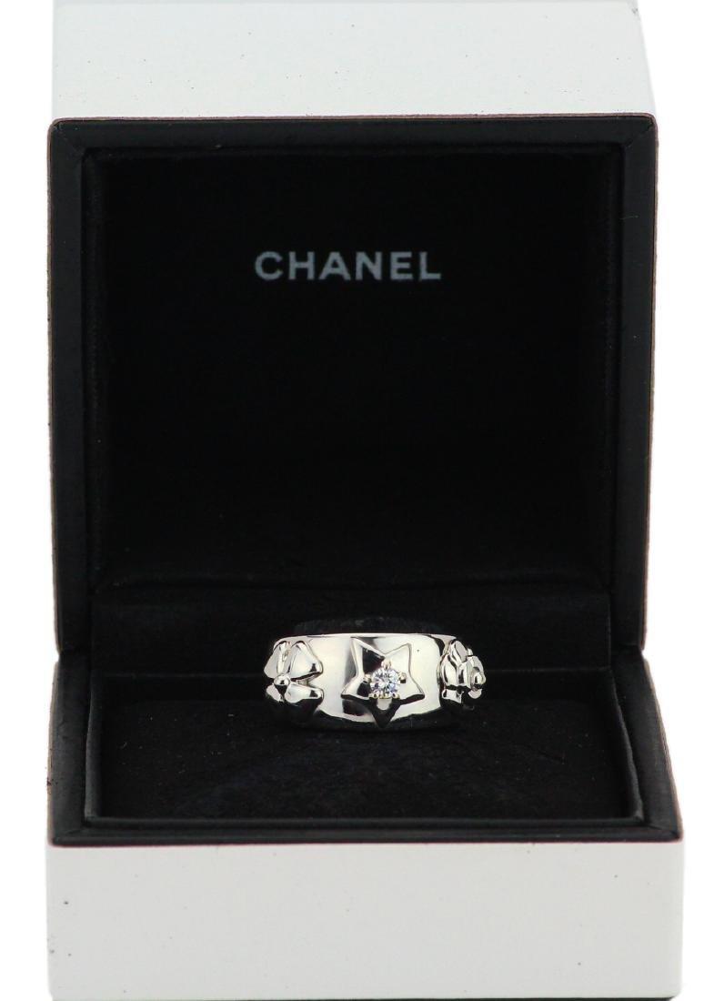 Chanel 18K Camelia, Star, & Clover Ring W/Diamond