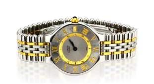 "Must de Cartier ""21"" 18K & Stainless Steel Watch"