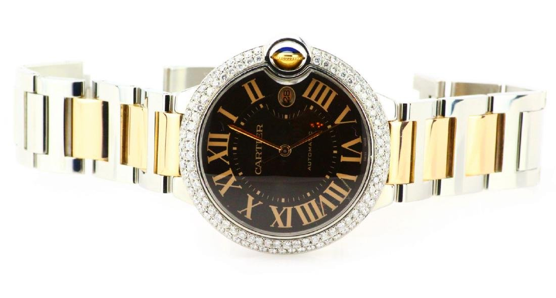 Cartier Ballon Bleu 18K/SS Watch W/3ctw Diamonds