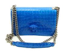 Versace Limited Edition Staten Blue Chain Bag
