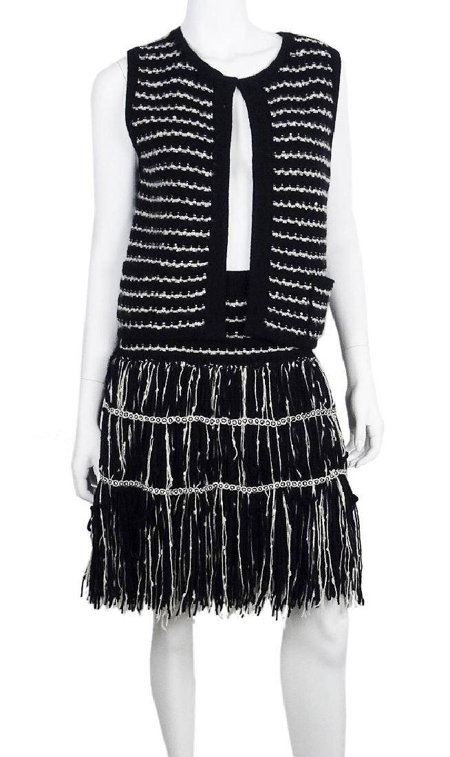 Chanel Cashmere/Wool Cardigan Vest & Skirt