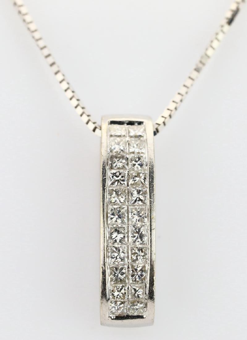 "Designer 1.50ctw Diamond & 14K 17"" Necklace"