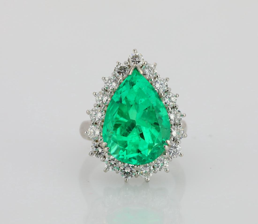 9.24ct GIA Colombian Emerald in Platinum Setting