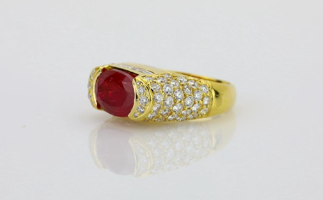 7.50ct Ruby, 4.25ctw Diamond & 18K Cocktail Ring - 2