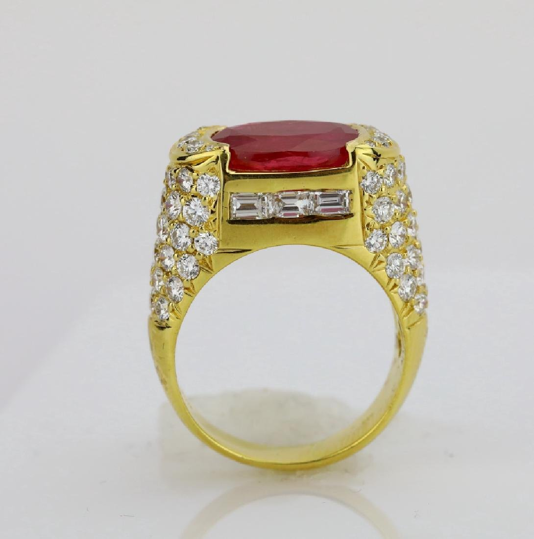 7.50ct Ruby, 4.25ctw Diamond & 18K Cocktail Ring - 4