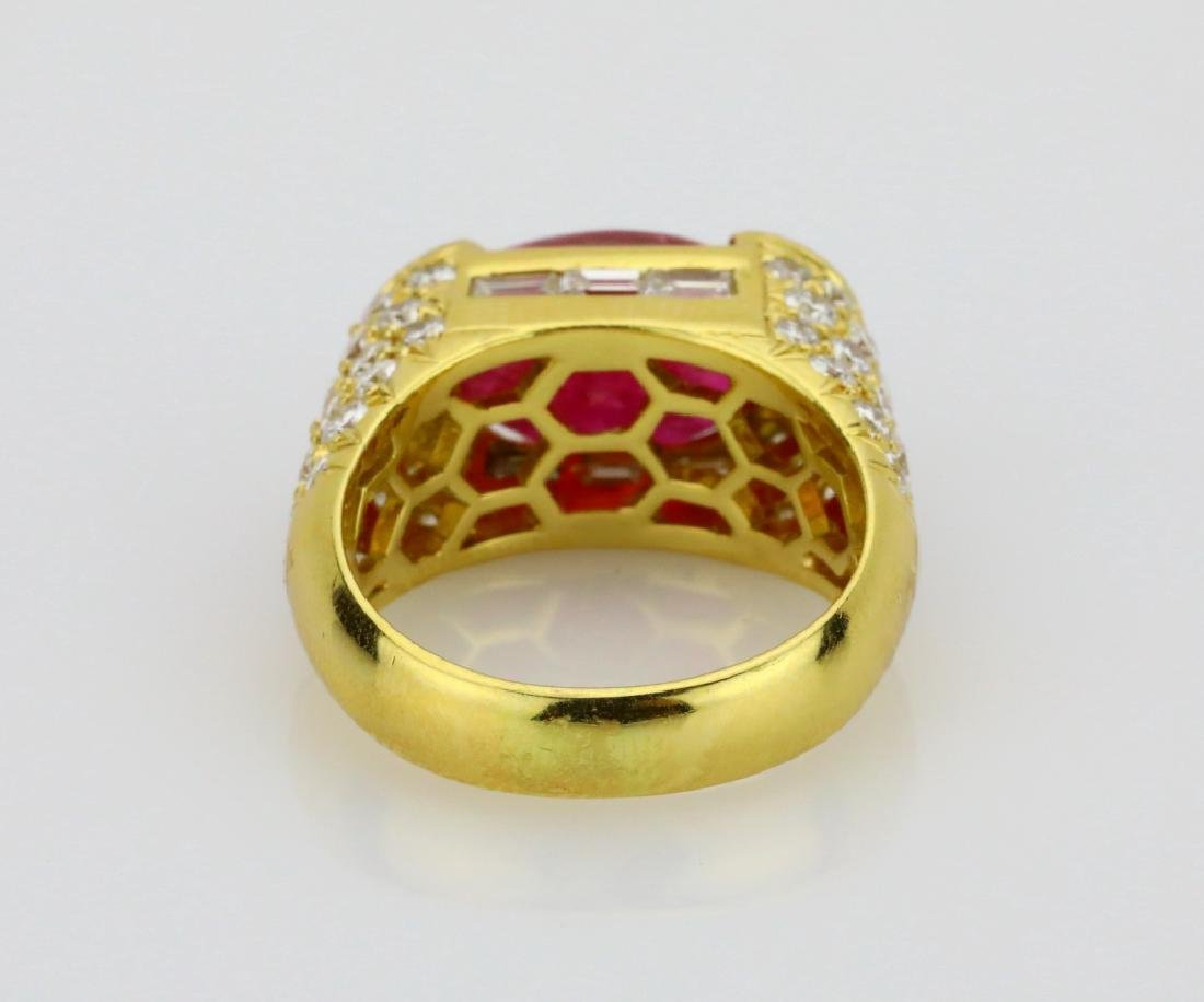 7.50ct Ruby, 4.25ctw Diamond & 18K Cocktail Ring - 5