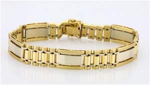 "14K Yellow/White Gold 12.5mm Wide 8.25"" Bracelet"