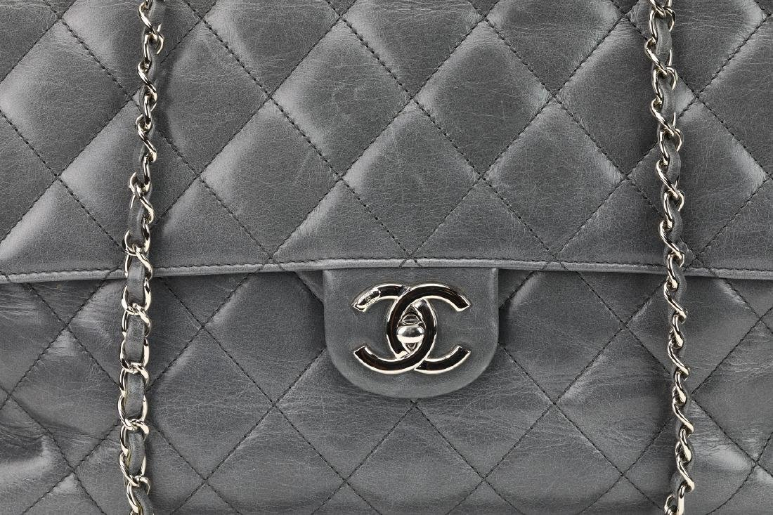 Chanel Grey Quilted Calfskin CC Delivery Tote - 4