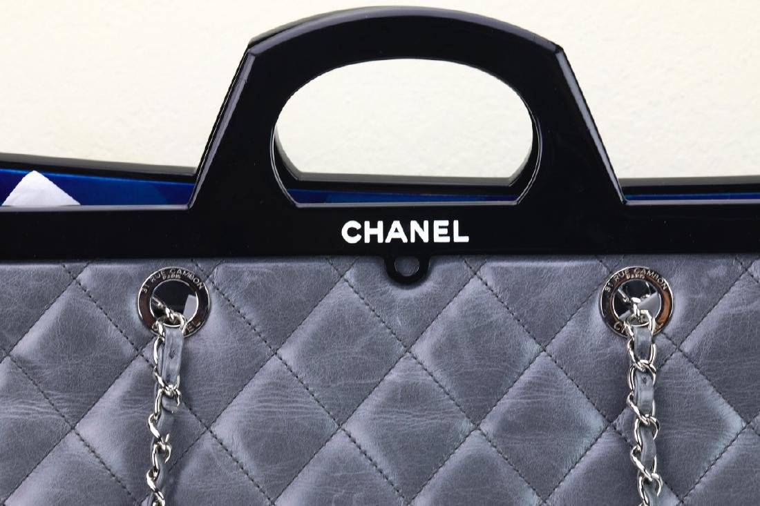 Chanel Grey Quilted Calfskin CC Delivery Tote - 5