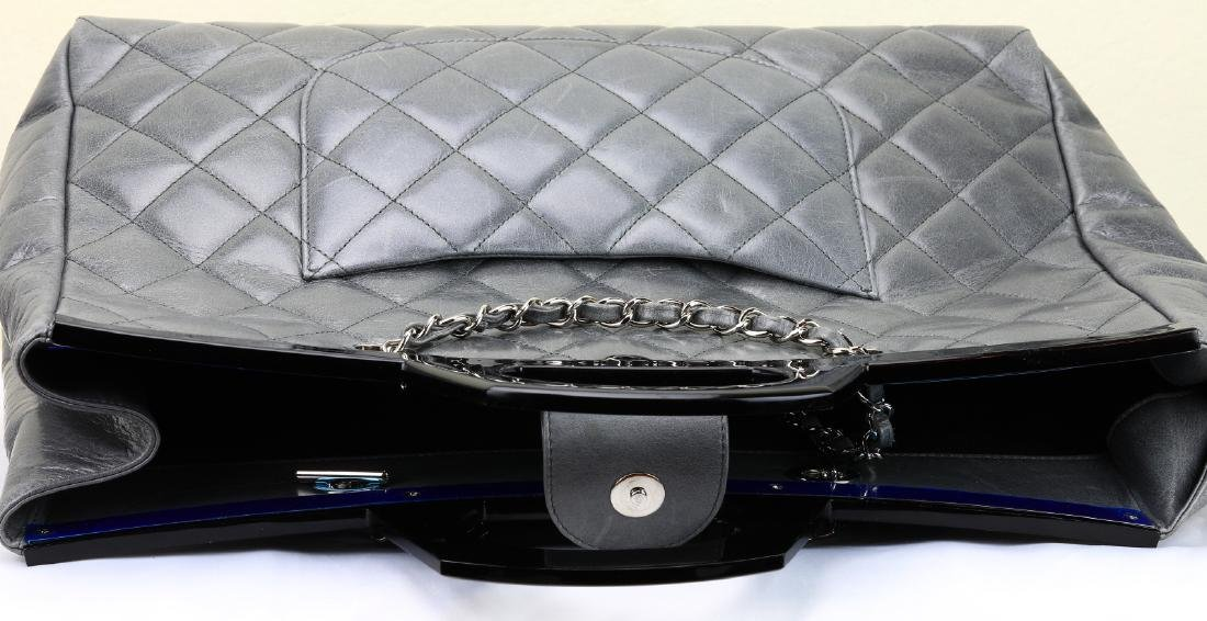 Chanel Grey Quilted Calfskin CC Delivery Tote - 7
