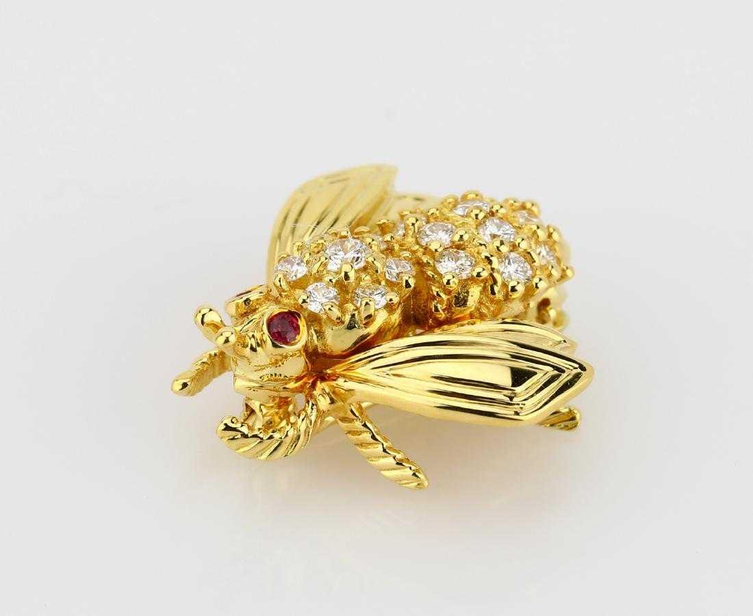 6ba60e14d2e Tiffany   Co. 0.70ctw Diamond   18K Bee Brooch
