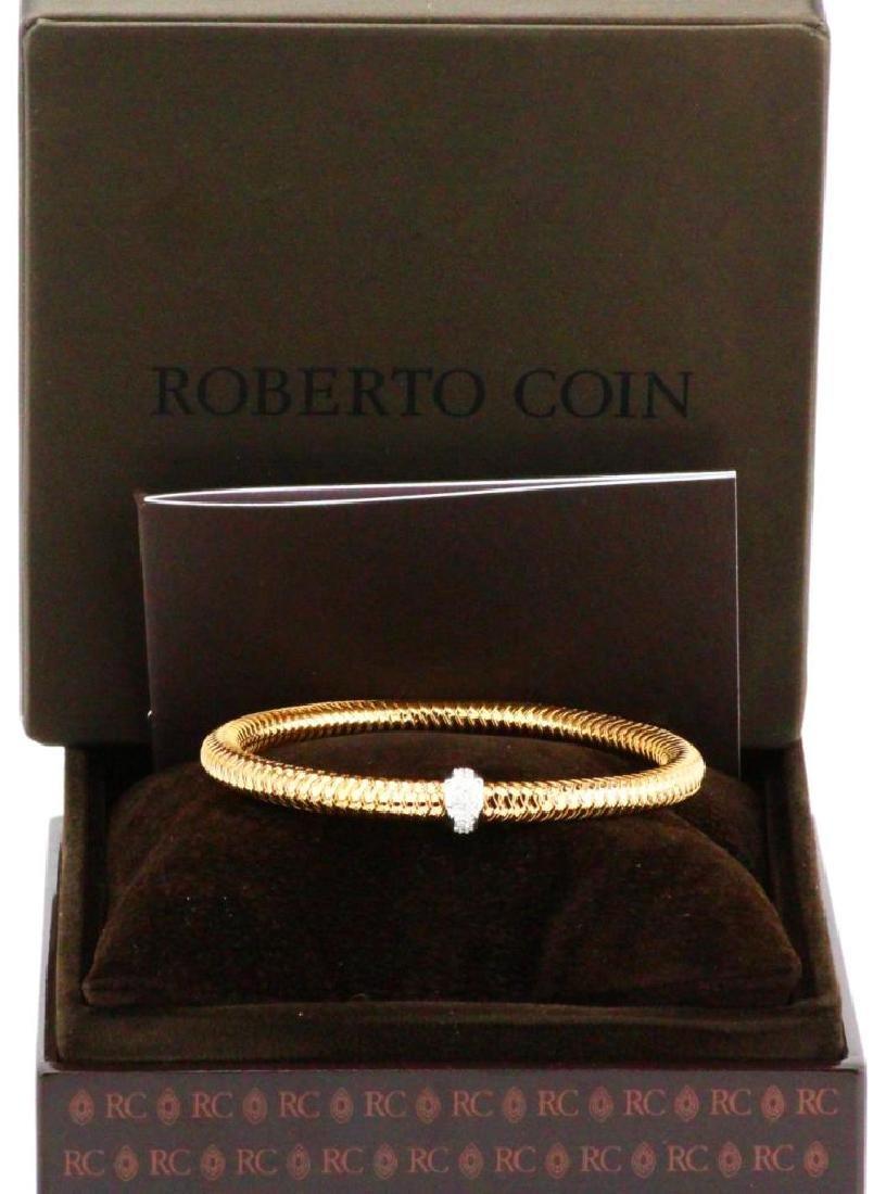 Roberto Coin Primavera 18K & Diamond Bangle NIB