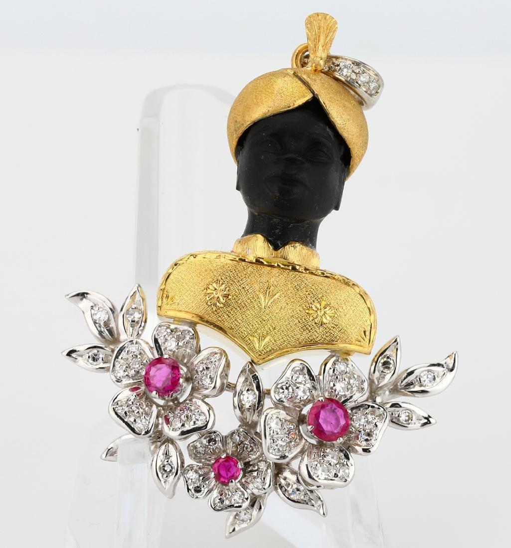 e7a7108c7 Italian Diamond, Burma Ruby & 18K Moretto Pendant - Jan 27, 2018 | GWS  Auctions Inc. in CA