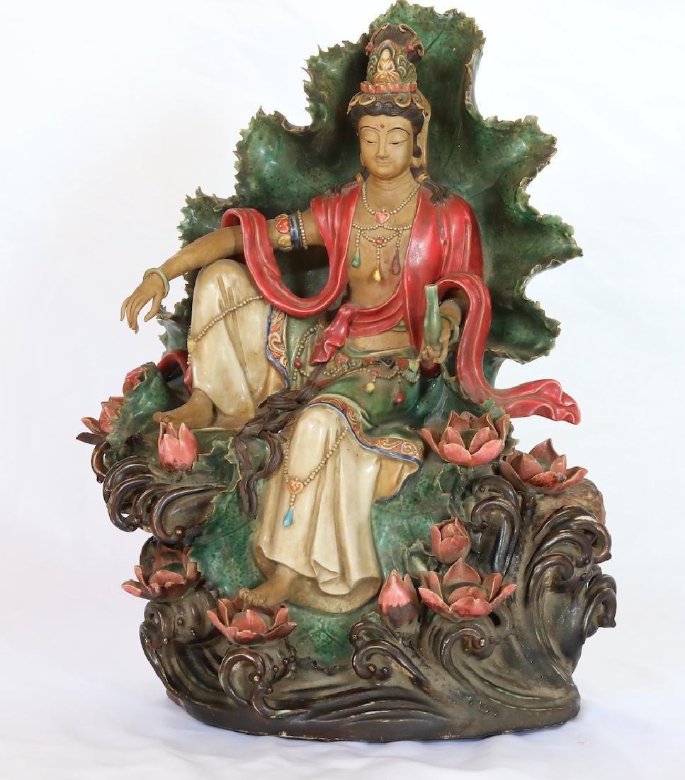 17th C. Queen's Porcelain Quan Yin Statue