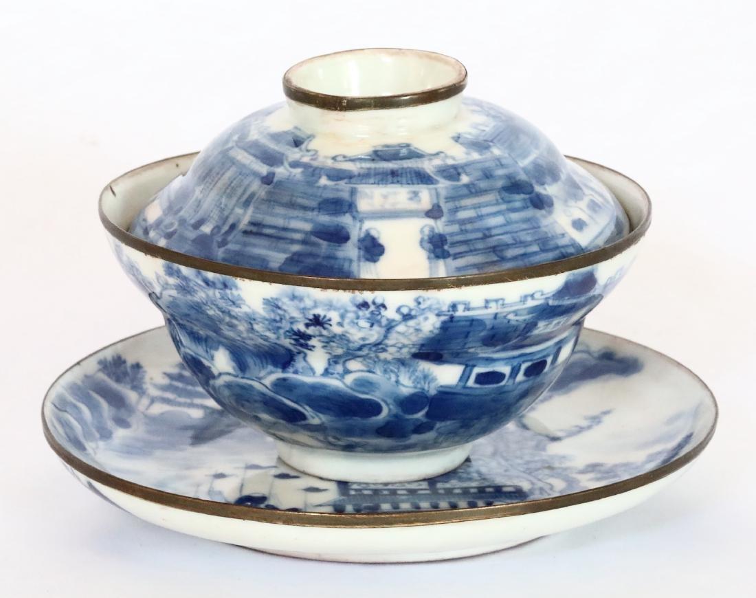 17th C. Vietnamese Queen's Lidded Tea Cup/Saucer
