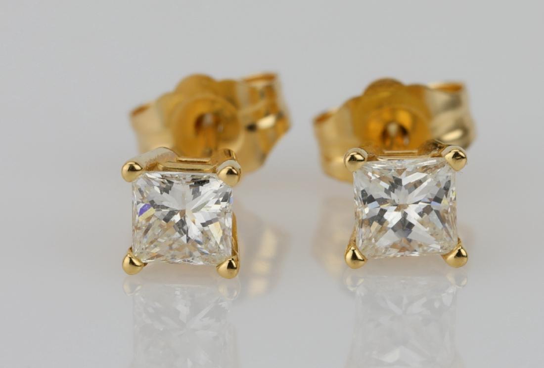 EGL 0.50ctw VS2/G-H Diamond 14K Stud Earrings