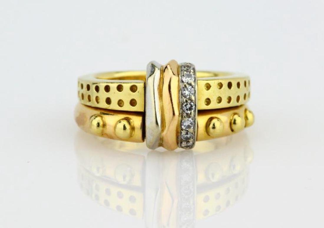 La Nouvelle Bague 18K Double Stacked Ring