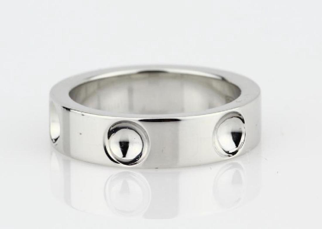 Louis Vuitton 18K White Gold 5mm Empreinte Ring