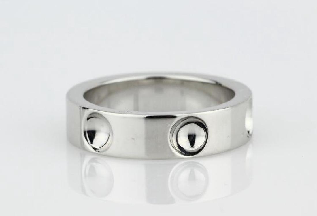 Louis Vuitton 18K White Gold 5mm Empreinte Ring - 2