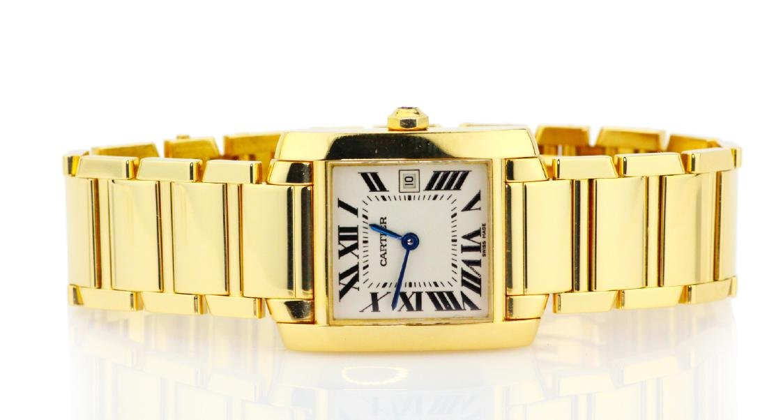 Cartier Tank Francaise 18K Watch in Original Box