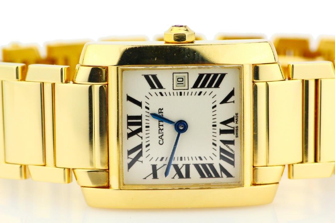 Cartier Tank Francaise 18K Watch in Original Box - 2