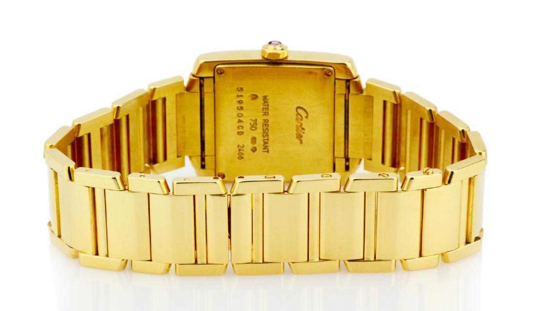 Cartier Tank Francaise 18K Watch in Original Box - 5