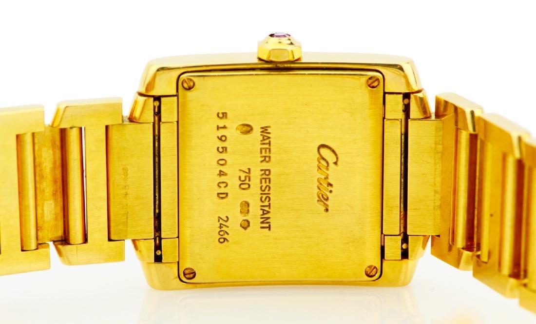 Cartier Tank Francaise 18K Watch in Original Box - 7