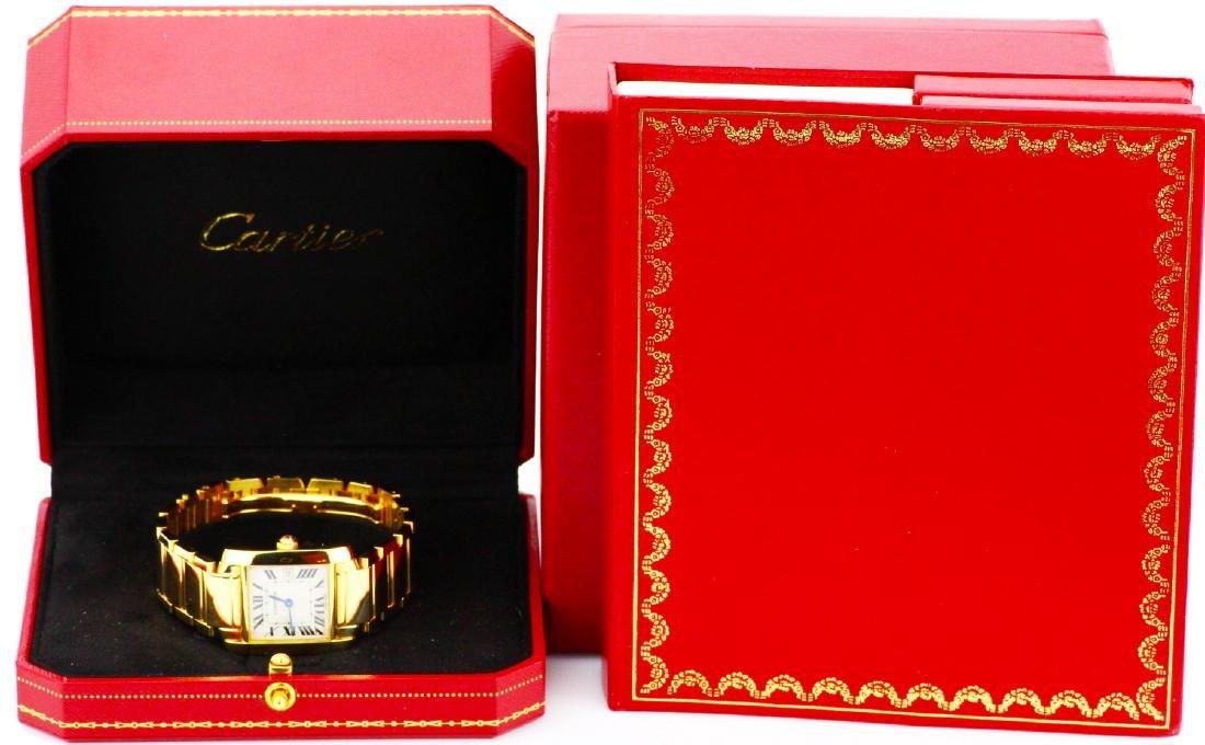 Cartier Tank Francaise 18K Watch in Original Box - 9