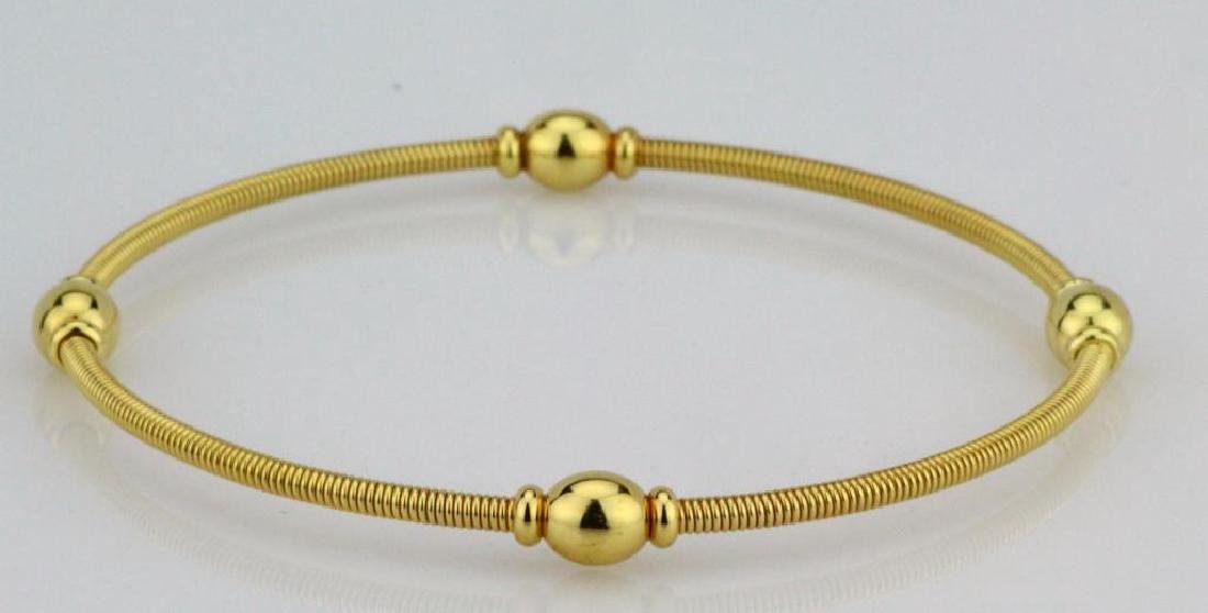 Tiffany & Co. 18K Yellow Gold Coiled Cable Bangle