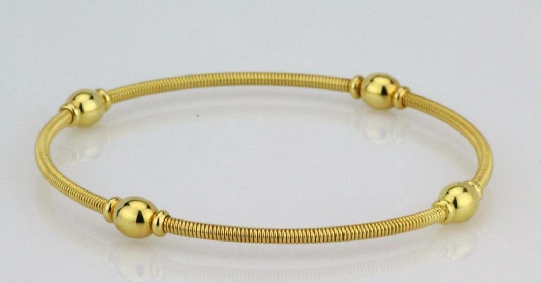 Tiffany & Co. 18K Yellow Gold Coiled Cable Bangle - 2