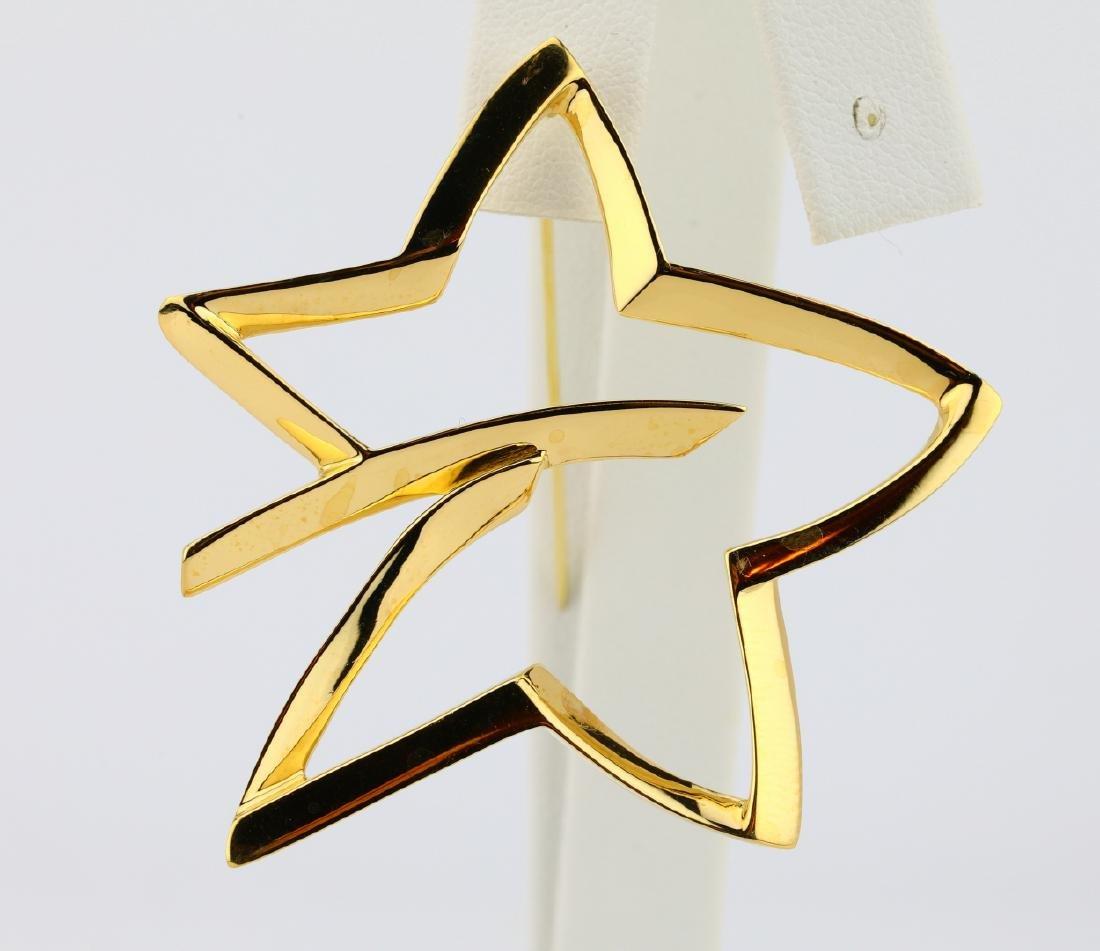 Tiffany & Co 1986 18K Paloma Picasso Star Brooch